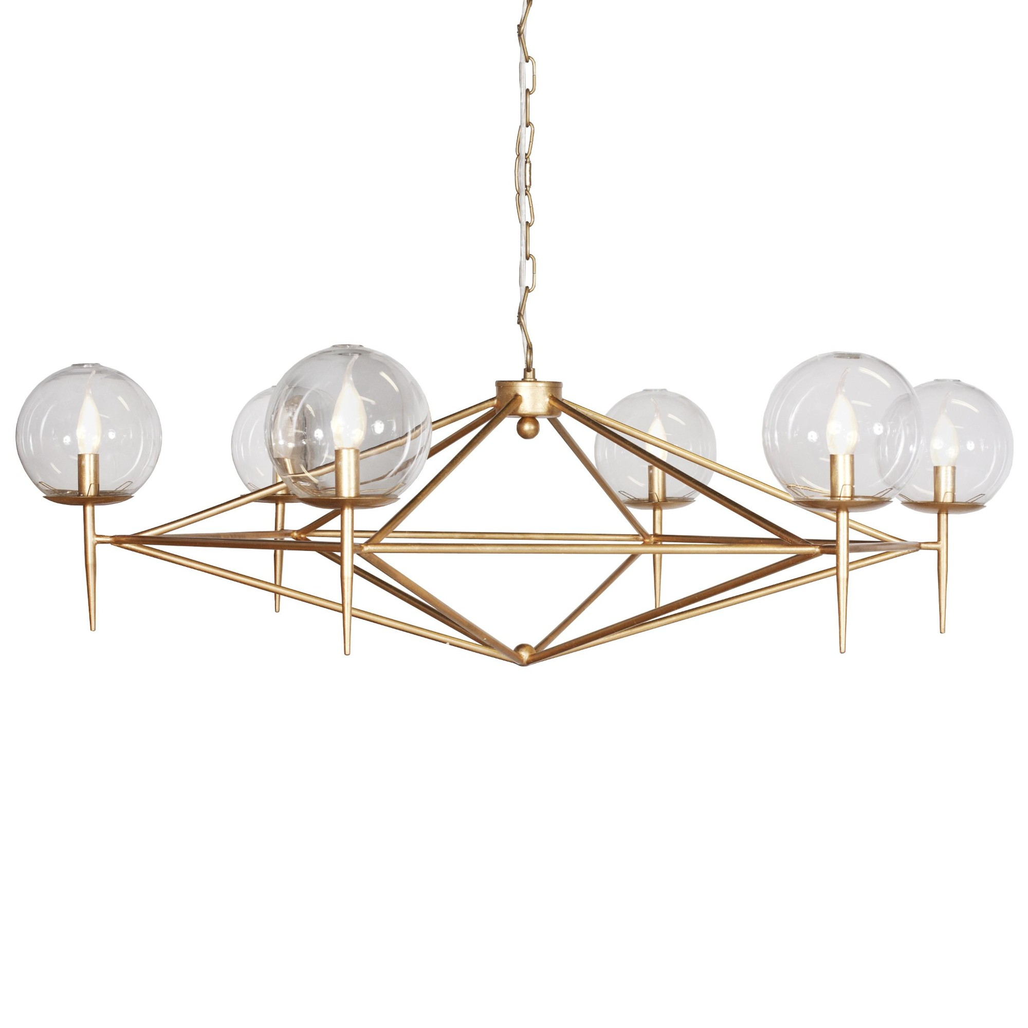 Geometric Gold Leaf Chandelier Kudzu and Company